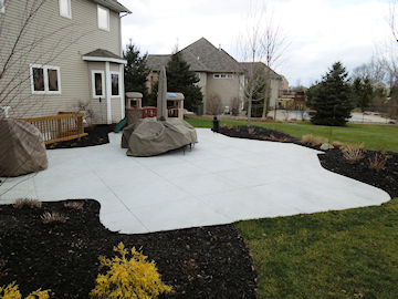 Residential concrete flatwork; epoxy coating; decorative, stamped & stained concrete; cement design & 